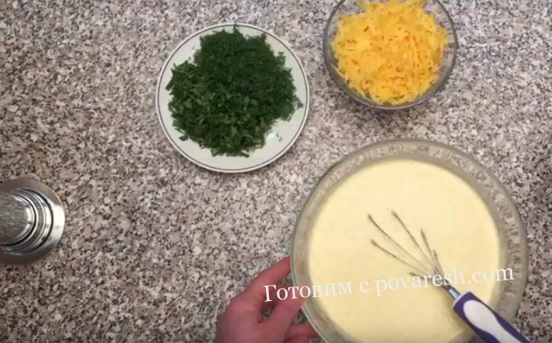 блины с кефиром сыром и укропом