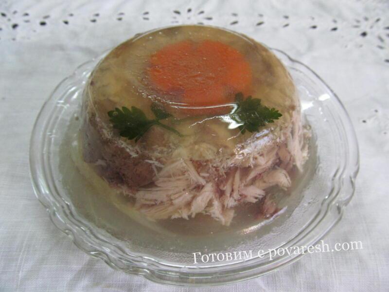 холодец из куриных окорочков с желатином