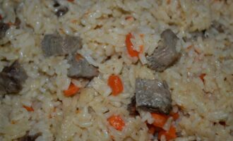 Рисовая каша с мясом