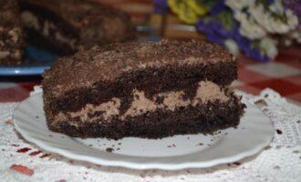 Торт Черный принц на кефире со сметанным кремом