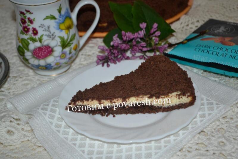 Шоколадная королевская ватрушка с творогом и какао