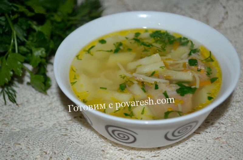 суп из тушенки с картошкой и вермишелью