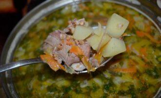 Гречневый суп с тушенкой