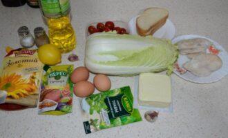 Салат Цезарь с курицей и пекинской капустой