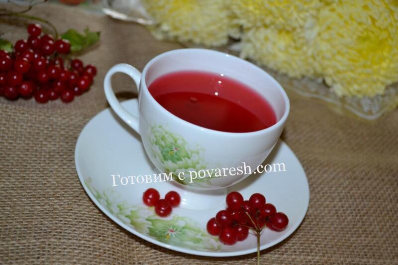 как заварить чай с калиной