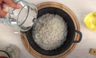 как отварить рис для салата из крабовых палочек рассыпчатым