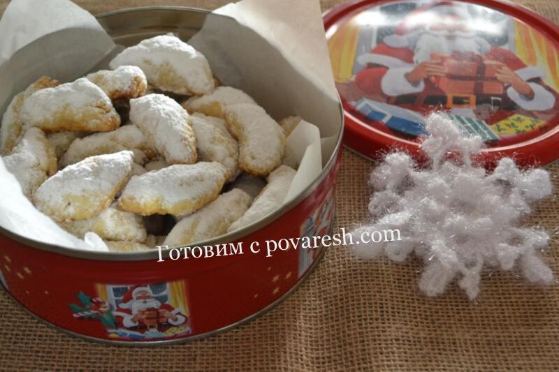 рождественское миндальное печенье