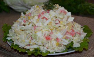 салат из пекинской капусты с крабовыми палочками