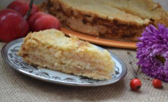 Пирог с яблоками три стакана