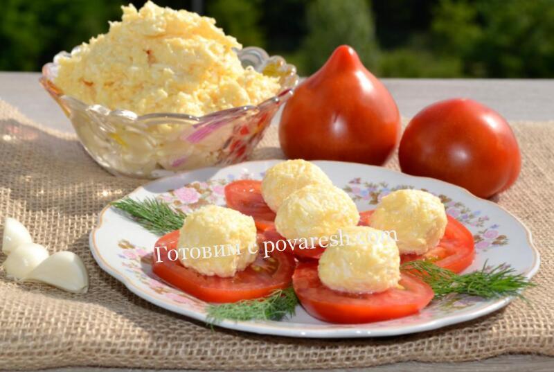 Сыр с чесноком и майонезом