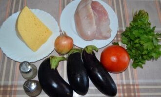 лодочки из баклажанов в духовке с курицей и овощами