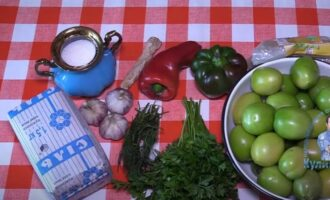 Зеленые помидоры на зиму с горчицей