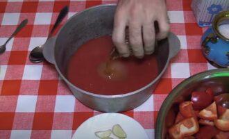 Лечо с томатным соком на зиму