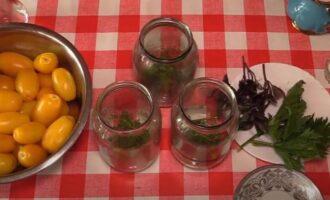 Маринованные желтые помидоры на зиму