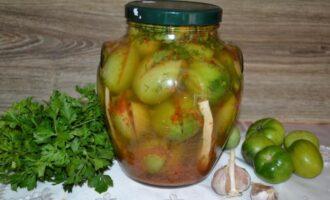 зеленые помидоры на зиму с горчицей как бочковые