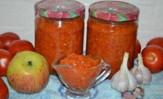 Аджика с морковью и яблоками на зиму