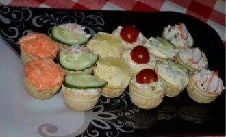 Начинки для тарталеток к праздничному столу
