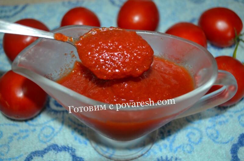 Томатный соус с луком на зиму