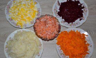 слоеный салат с красной рыбой рецепт