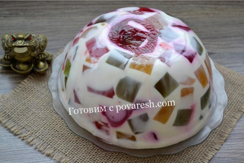 желейный торт битое стекло со сметаной
