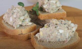 Намазка на бутерброды из рыбной консервы