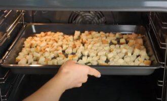 как сделать сухарики из батона в духовке