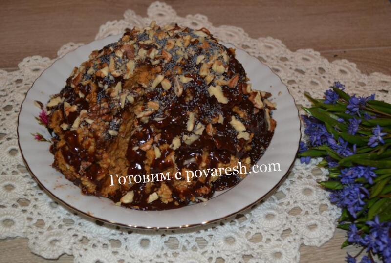 торт из печенья с вареной сгущенко
