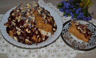 торт из печенья с вареной сгущенкой