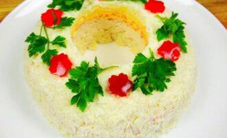 салат пасхальный венок с мясом