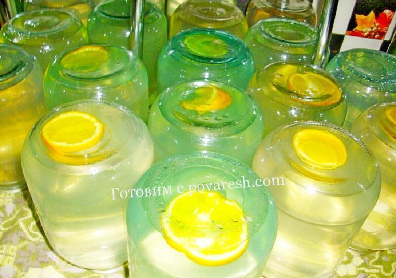 березовый сок с апельсином и лимоном на 3 литровую банку рецепт