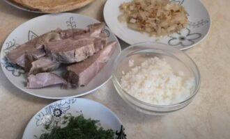 Фаршированные блины с мясом и рисом