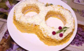 салат восьмерка рецепт с фото пошагово