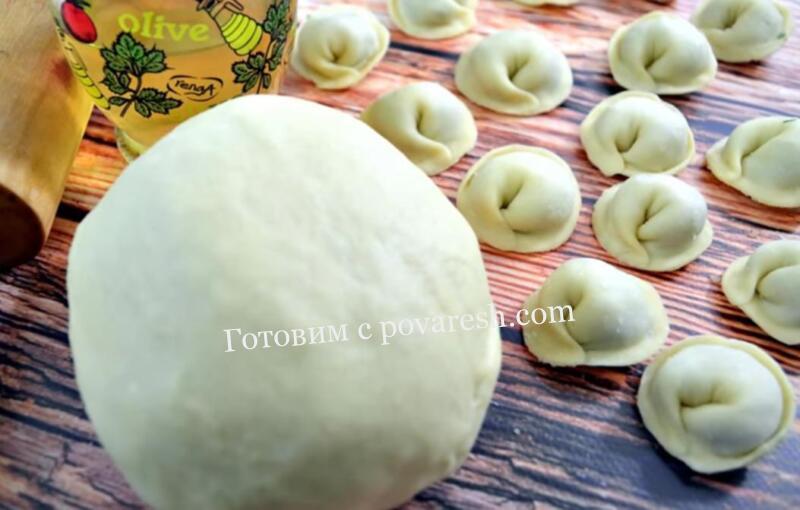 тесто для пельменей на молоке с яйцом с растительным маслом рецепт с фото пошаговый