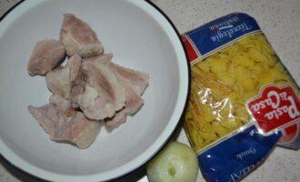 Макароны по флотски с вареным мясом