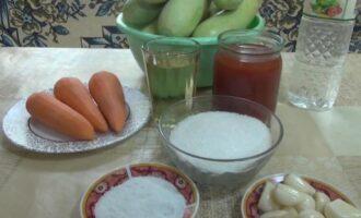 Салат Тещин язык из кабачков с помидорами на зиму