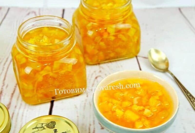 Варенье из кабачков с лимоном и апельсином