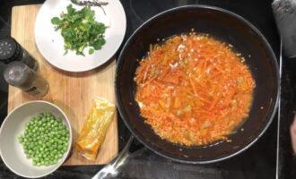 Красная чечевица с овощами