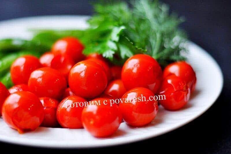 сладкие маринованные помидоры черри на зиму