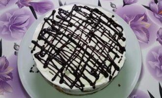 Торт из овсяного печенья без выпечки со сметаной