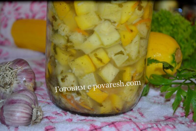 Салат из кабачков с морковью и чесноком на зиму