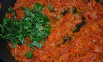 Овощная подлива с томатной пастой
