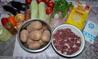 Лагман из говядины с покупной лапшой и овощами