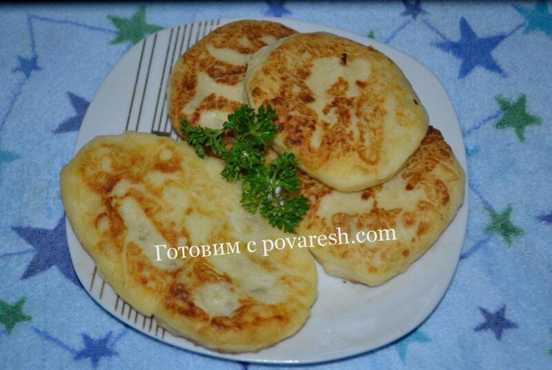 Картофельные котлеты с фаршем на сковороде