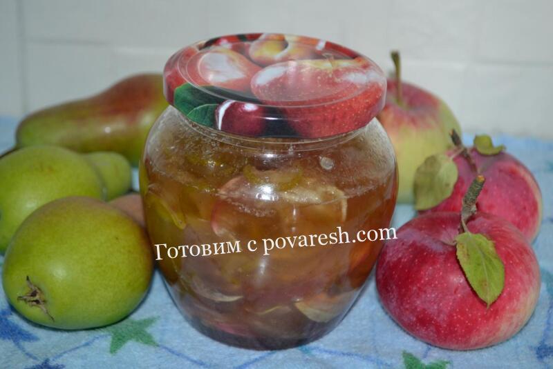 яблочно-грушевое варенье дольками