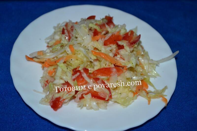 рецепт маринованной капусты с болгарским перцем, морковью и луком